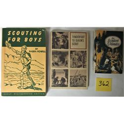 3X s/c SCOUT BOOKS (SCOUTING FOR BOYS BY BADEN POWELL, TENDERFOOT TO QUEEN'S SCOUT, THE SCOUTER'S 5