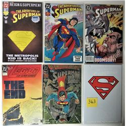 6X NEW BAGGED + BOARDED COLLECTIBLE DC COMICS SUPERMAN ISSUES