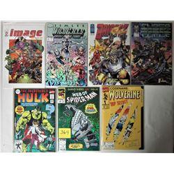 LOT 7 NEW BAGGED + BOARDED KEY ISSUES IMAGE + MARVEL COMICS (WILDCATS, BRIGADA, CYBERFORCE, HULK, WO