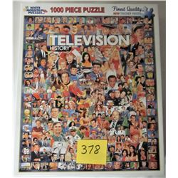 """2012 24""""X30"""" TELEVISION HISTORY 1,000 PIECE PUZZLE"""