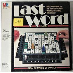 1985 MILTON BRADLEY LAST WORD SPELLING BOARD GAME