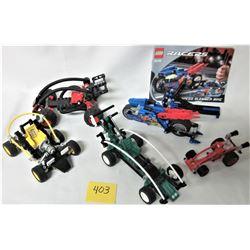 LOT 5 TECHNIC LEGO RACERS