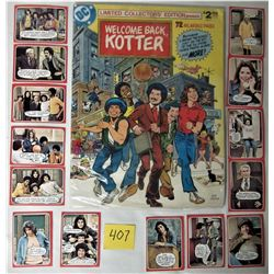 """13"""" X 10"""" DC LIMITED EDITION COLLECTORS """"WELCOME BACK KOTTER"""" GIANT COMIC BOOK + 14X 1976 CARDS"""