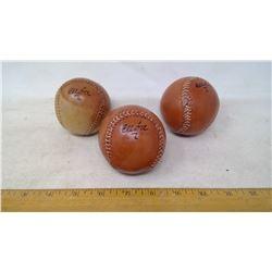 3 Euba Baseballs
