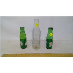2x 125mL Canada Dry Bottles and Prince Albert Mineral Water Co. Glass Bottle