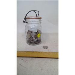 Jar of 190 U.S. Quarters
