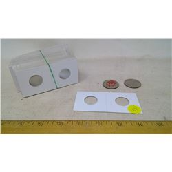 1965, 74 U.S. Half Dollars and Coin Holders