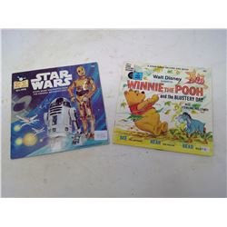 RED ALONG RECORDS STAR WARS 1979 / WINNIE THE POOH 1969