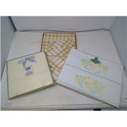 BOXED SHEETS / BOXED NAPKIN SET / BOXED PILLOW CASES