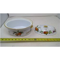 EVE SHAM ROYAL WORCESTER CASSEROLE WITH LID