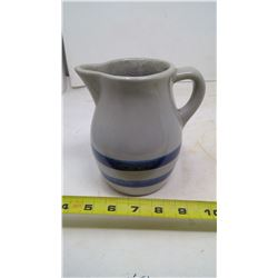 STONEWARE PITCHER BLUE BANDED