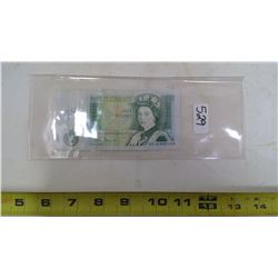BANK OF ENGLAD ONE POUND NOTE