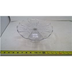 PRESSED GLASS CAKE STAND - CANADIAN THISTLE CIRCA 1910