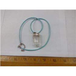 DOUBLE CRYSTAL NECKLACE - SILVER MOUNT