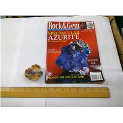 AZURITE AND MAGAZINE