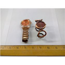 TWO COPPER WATCHES
