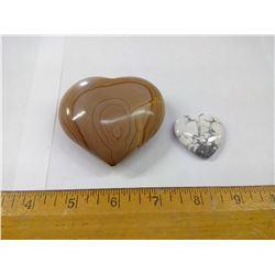 HEART STONES - WONDERSTONE AND HOWLITE