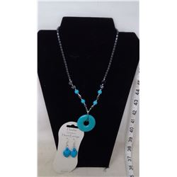 Howlite Necklace and Earrings