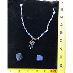 Sodalite Necklace and 2 Stones