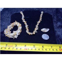 Citrine Necklace, Bracelet, and Stone