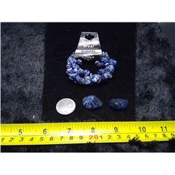 Sodalite Bracelet and 2 Stones