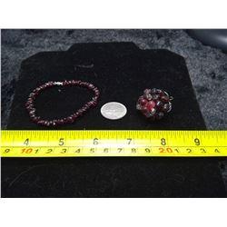 Garnet Ring and Bracelet