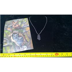 Hematite Owl Necklace and Puzzle