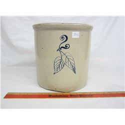 2 Gallon Red Wing crock crack on side