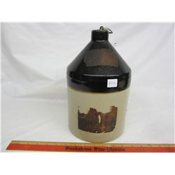 Golden Grain liquor 1 gallon jug paper label no damage