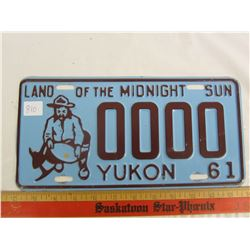 1961 Yukon sample license plate