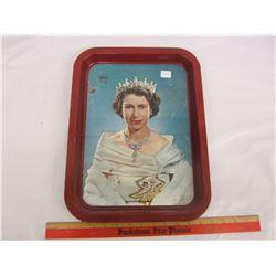 Vintage Queen Elizabeth serving tray