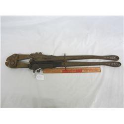 Antique cast iron bolt cutters