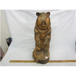 Large Hand carved bear statue