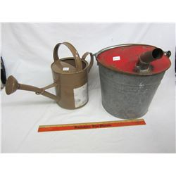 Water bucket and watering can