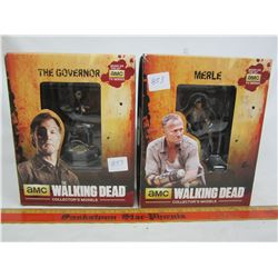 2 Walking Dead figures The Governor and Merle with boxes