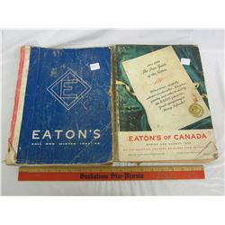 2 Eaton's catalogues 1944 and 1958