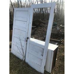 "TWO HOME STEADER DOORS - 36"" X 77"", 32"" X 80"""