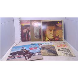 6 Vinyl Records (Wilf Carter, Don Gibson, The Charlie Daniels Band)