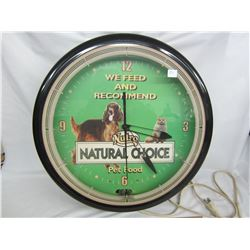 "NEON PET FOOD CLOCK 20"" (WORKING)"