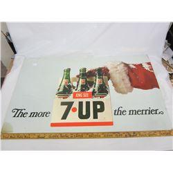 "7-UP SIGN 33 X 22"" (CARDBOARD)"
