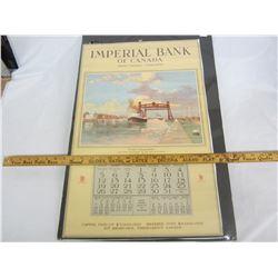 1937 IMPERIAL BANK CALENDAR