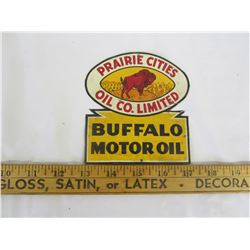 BUFFALO PRAIRIE OIL SIGN OFF SHIPPING CRATE
