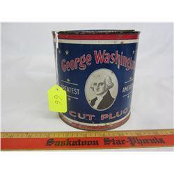 GEORGE WASHINGTON TOBACCO CAN