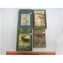 FOUR ANTIQUE THORTON BURGESS CHILDREN'S BOOKS