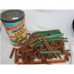 CONTAINER OF AMERICAN TOY LOGS