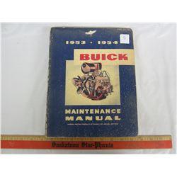 1953-54 BUICK MAINTENANCE MANUAL