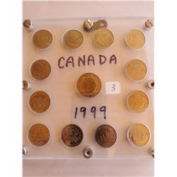 Canada 1999 Quarter Set-Each Quarter is Different Month