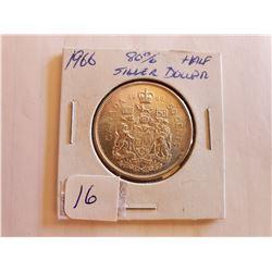 1966 80% Silver Half Dollar - Cdn