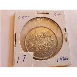 1966 80% Silver Half Dollar -Cdn