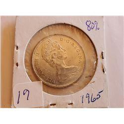 1965 80% Silver Half Dollar - Cdn